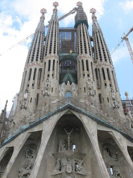 Sagrada Familia, zdroj: vlastní archív při návštěvě Barcelony 2012